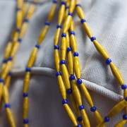 Details recycled paper beads