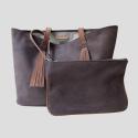 clutch and Steven handbag