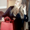 Boy handbag RED by ESTEFAN with model