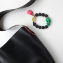 detail Ivero shoulder bag and KC bracelet