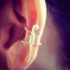gecko ear cuff – silver