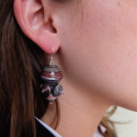 earring with model