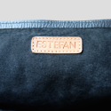 Detail brand and leather