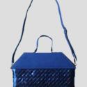 Blue metal handbag