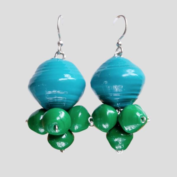 earrings veronica green